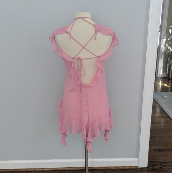 Vintage Just Shirley Cut 196 Pink Ruffle